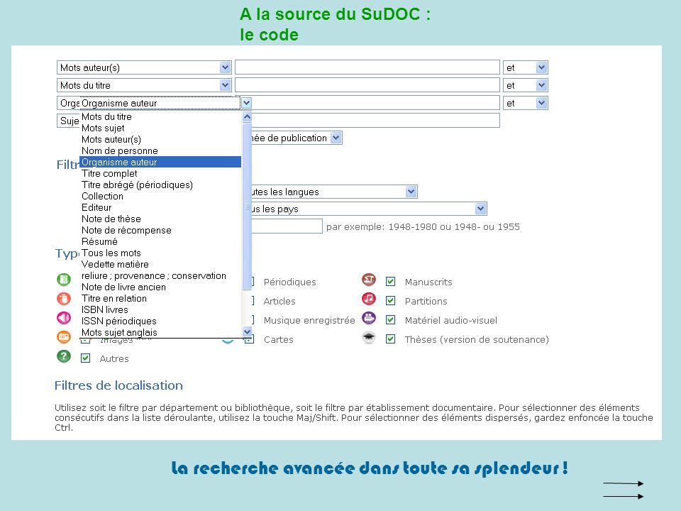 A la source du SuDOC : le code Ils nutilisent pas notre langue… Mais un code informatique.