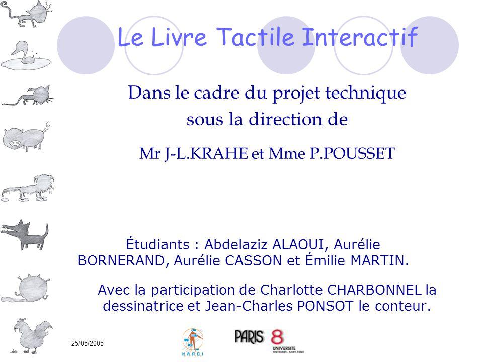 25/05/2005 Dans le cadre du projet technique sous la direction de Mr J-L.KRAHE et Mme P.POUSSET Étudiants : Abdelaziz ALAOUI, Aurélie BORNERAND, Aurél