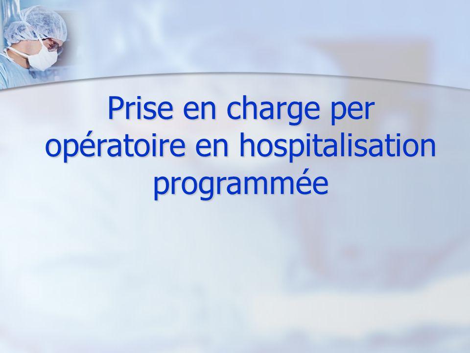 Prise en charge per opératoire en hospitalisation programmée