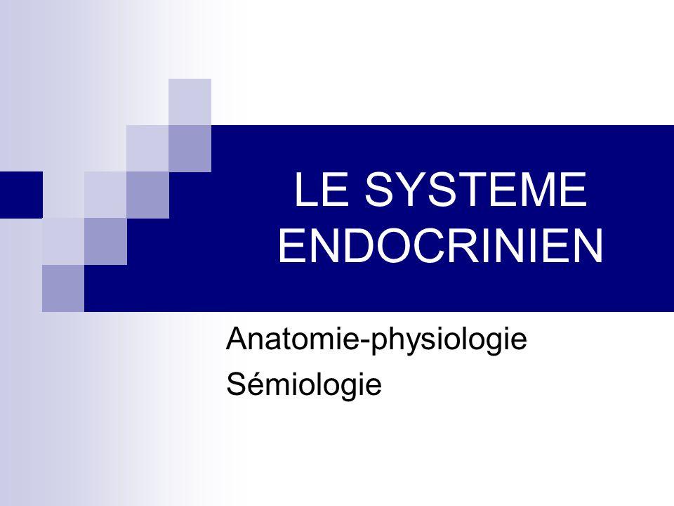 LE SYSTEME ENDOCRINIEN Anatomie-physiologie Sémiologie