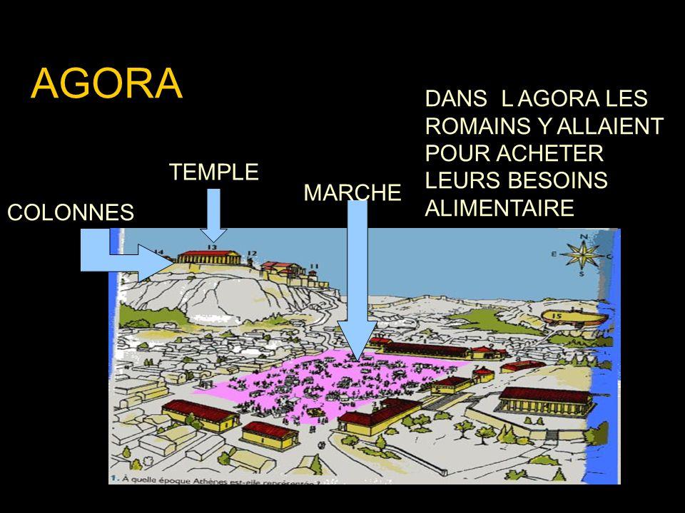 AGORA MARCHE DANS L AGORA LES ROMAINS Y ALLAIENT POUR ACHETER LEURS BESOINS ALIMENTAIRE TEMPLE COLONNES