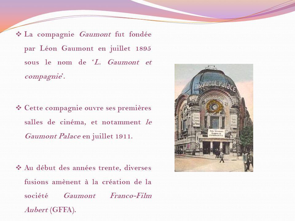 La compagnie Gaumont fut fondée par Léon Gaumont en juillet 1895 sous le nom de L.