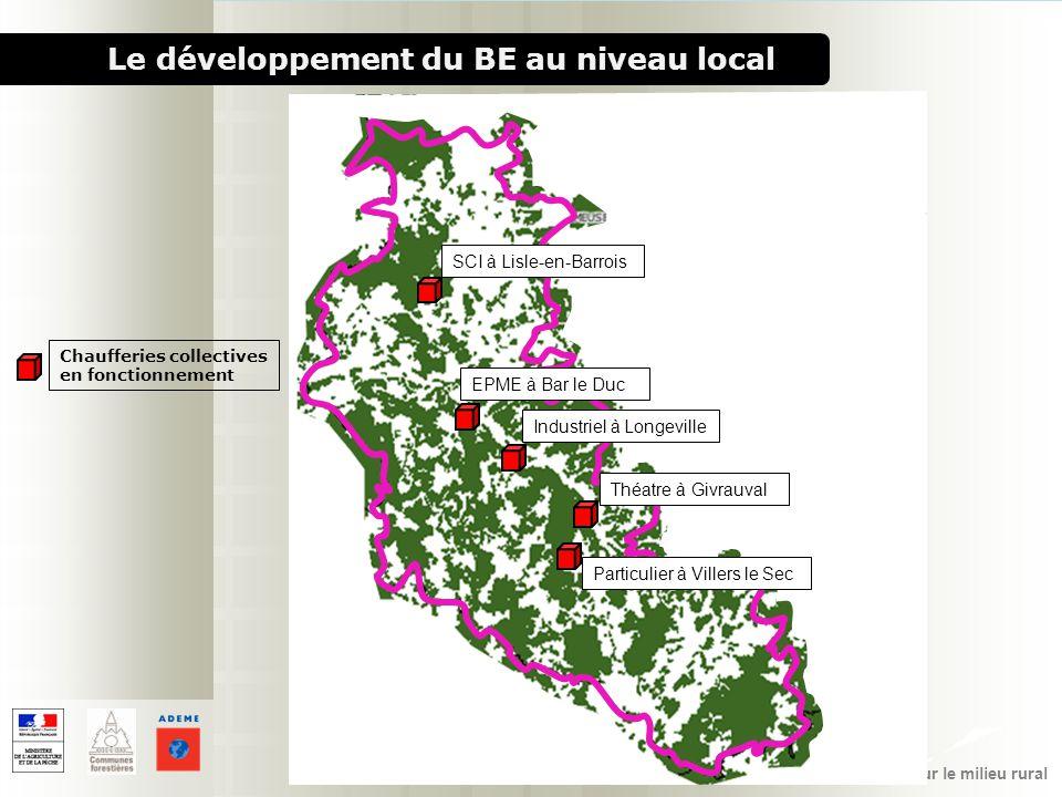 1000 chaufferies bois pour le milieu rural Le développement du BE au niveau local Chaufferies collectives en fonctionnement SCI à Lisle-en-Barrois EPM