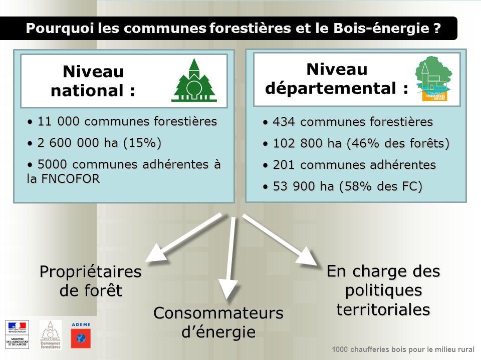 1000 chaufferies bois pour le milieu rural Consommateurs dénergie Propriétaires de forêt En charge des politiques territoriales Pourquoi les communes