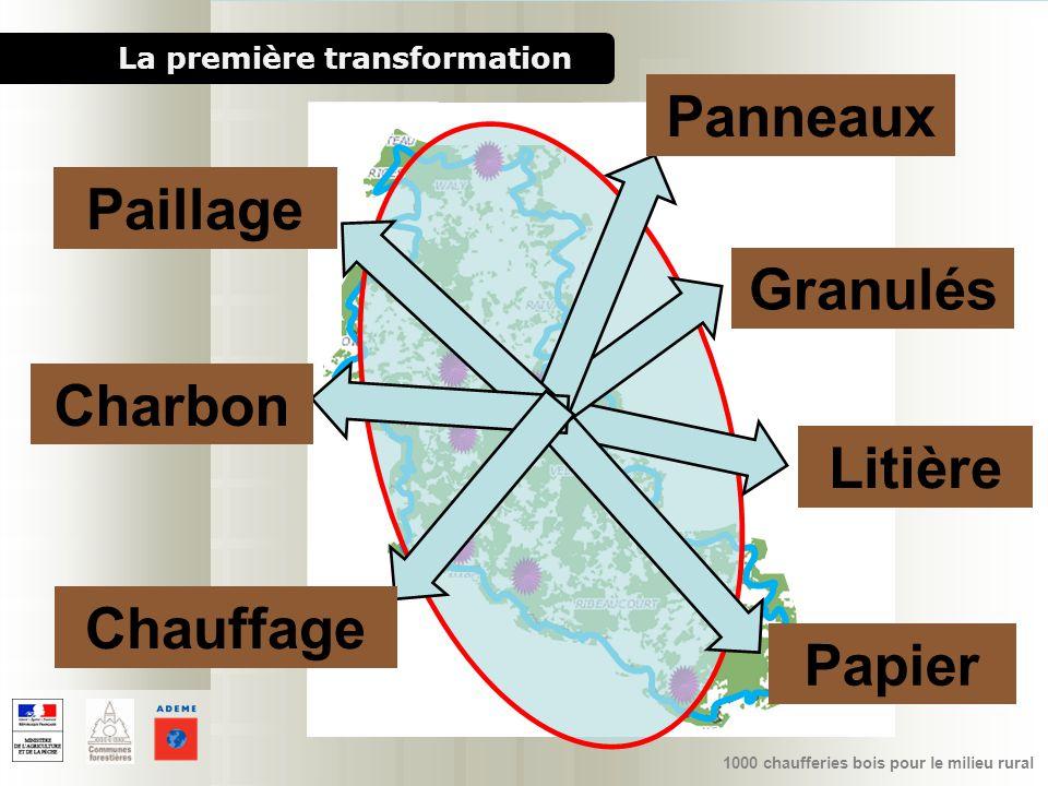1000 chaufferies bois pour le milieu rural Granulés Panneaux Paillage Chauffage Litière La première transformation Charbon Papier