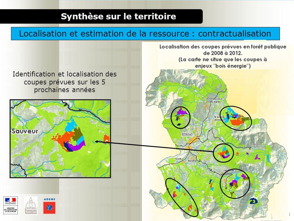 1000 chaufferies bois pour le milieu rural Identification et localisation des coupes prévues sur les 5 prochaines années Synthèse sur le territoire Lo