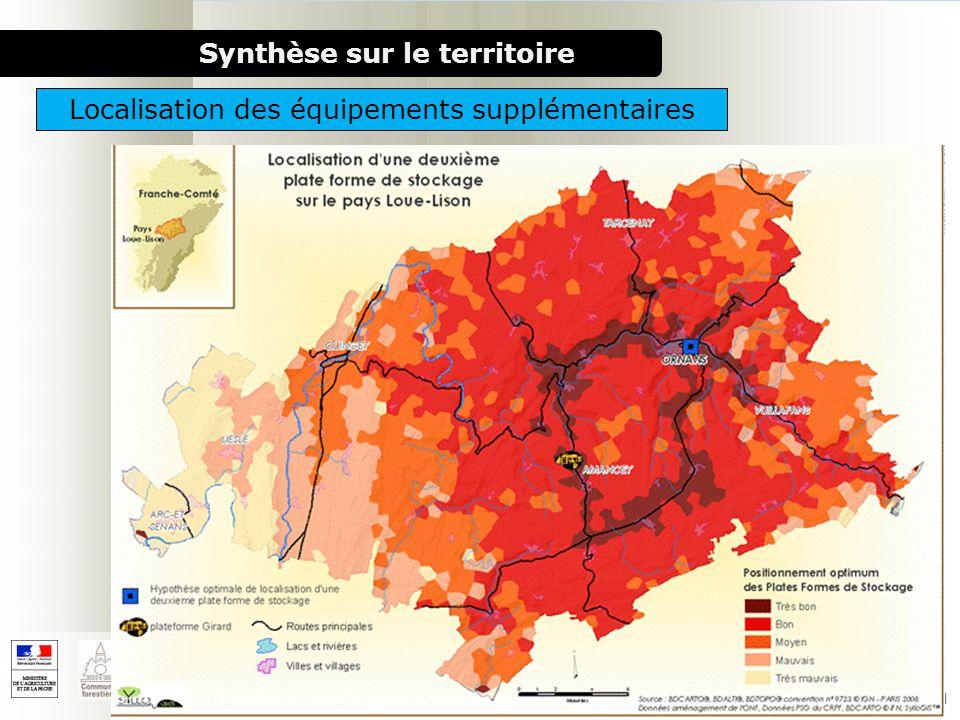 1000 chaufferies bois pour le milieu rural Synthèse sur le territoire Localisation des équipements supplémentaires