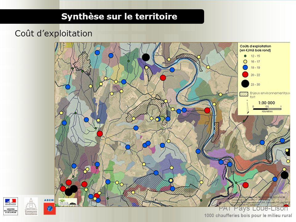 1000 chaufferies bois pour le milieu rural PAT Pays Loue-Lison Synthèse sur le territoire Coût dexploitation