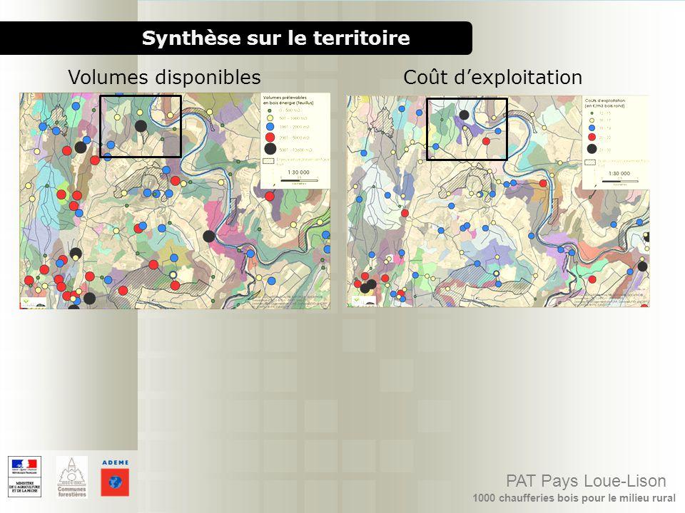 1000 chaufferies bois pour le milieu rural PAT Pays Loue-Lison Synthèse sur le territoire Coût dexploitationVolumes disponibles