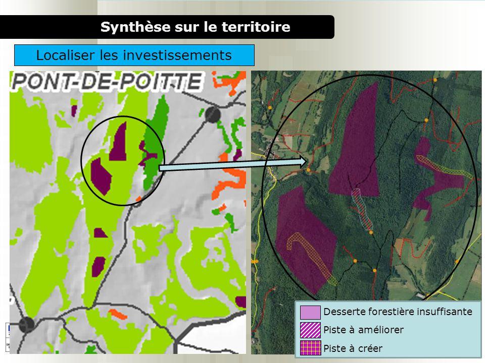 1000 chaufferies bois pour le milieu rural Synthèse sur le territoire Localiser les investissements Desserte forestière insuffisante Piste à améliorer