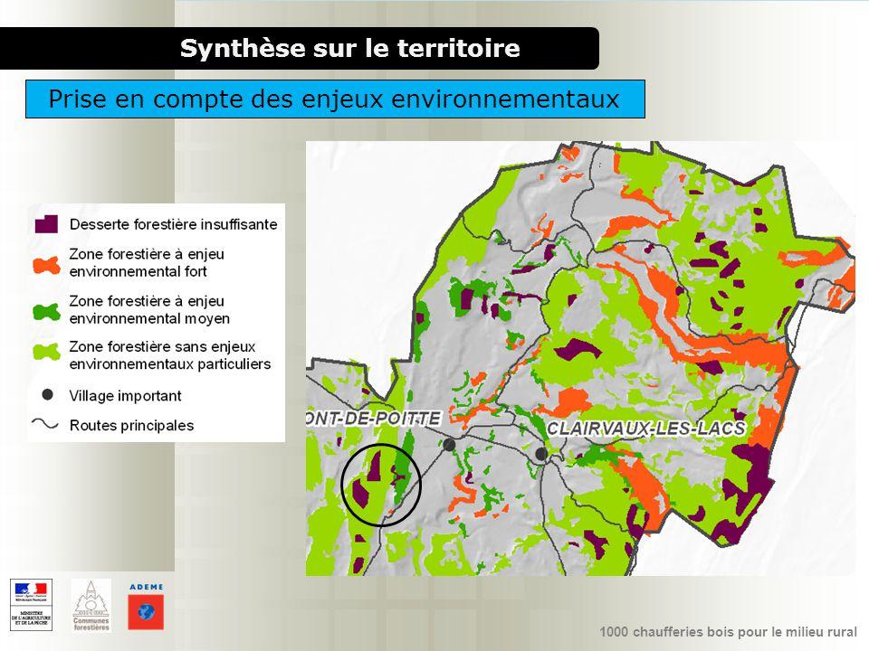 1000 chaufferies bois pour le milieu rural Synthèse sur le territoire Prise en compte des enjeux environnementaux
