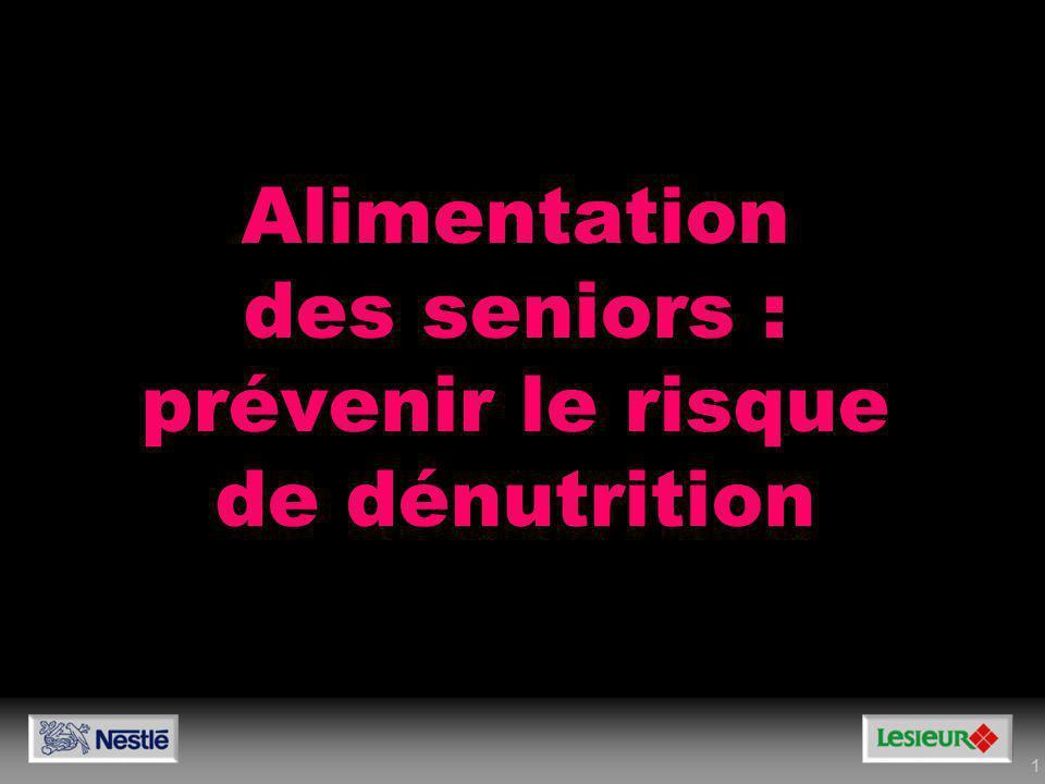 12 Besoins minimums en protéines : Alimentation des seniors Les besoins en protéines Pour un homme de 70 kg 12 à 15 % soit 1 à 1,2 g/kg/j