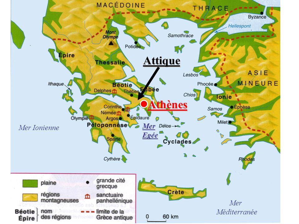 Page de droite Problématique : Laisser trois lignes Athènes est une cité grecque située en Attique, au bord de la mer Egée.