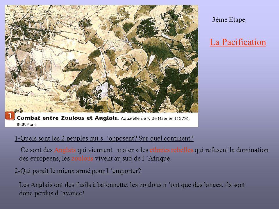 3ème Etape 1-Quels sont les 2 peuples qui s opposent.