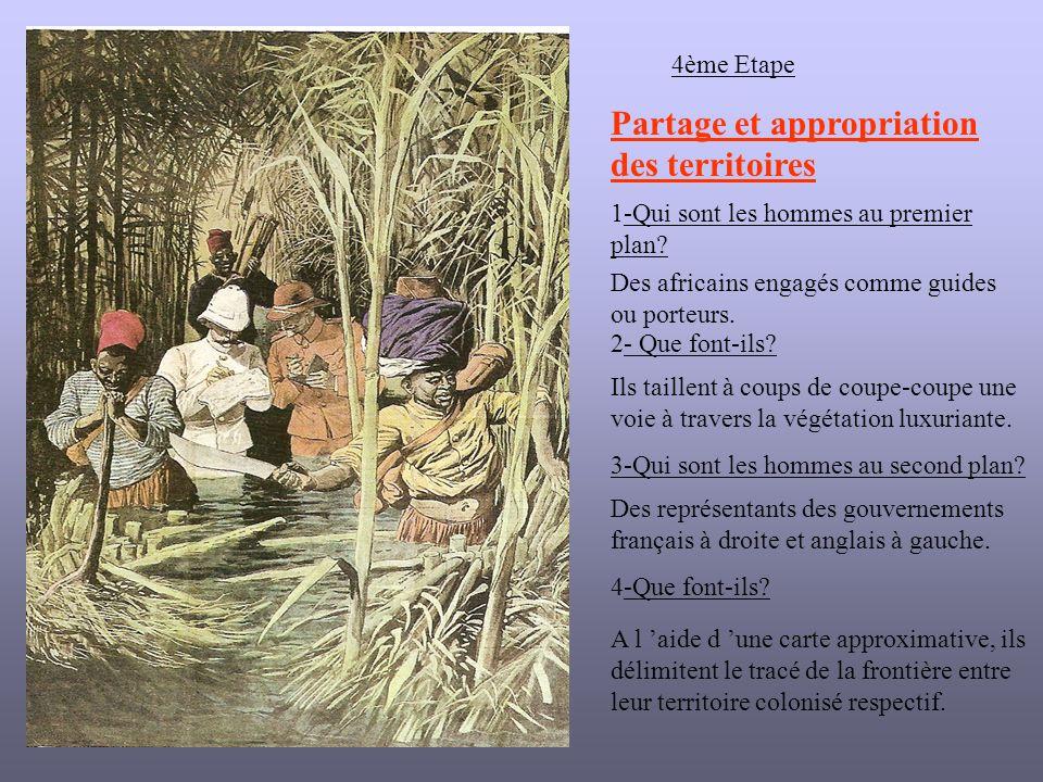 4ème Etape 1-Qui sont les hommes au premier plan.Des africains engagés comme guides ou porteurs.