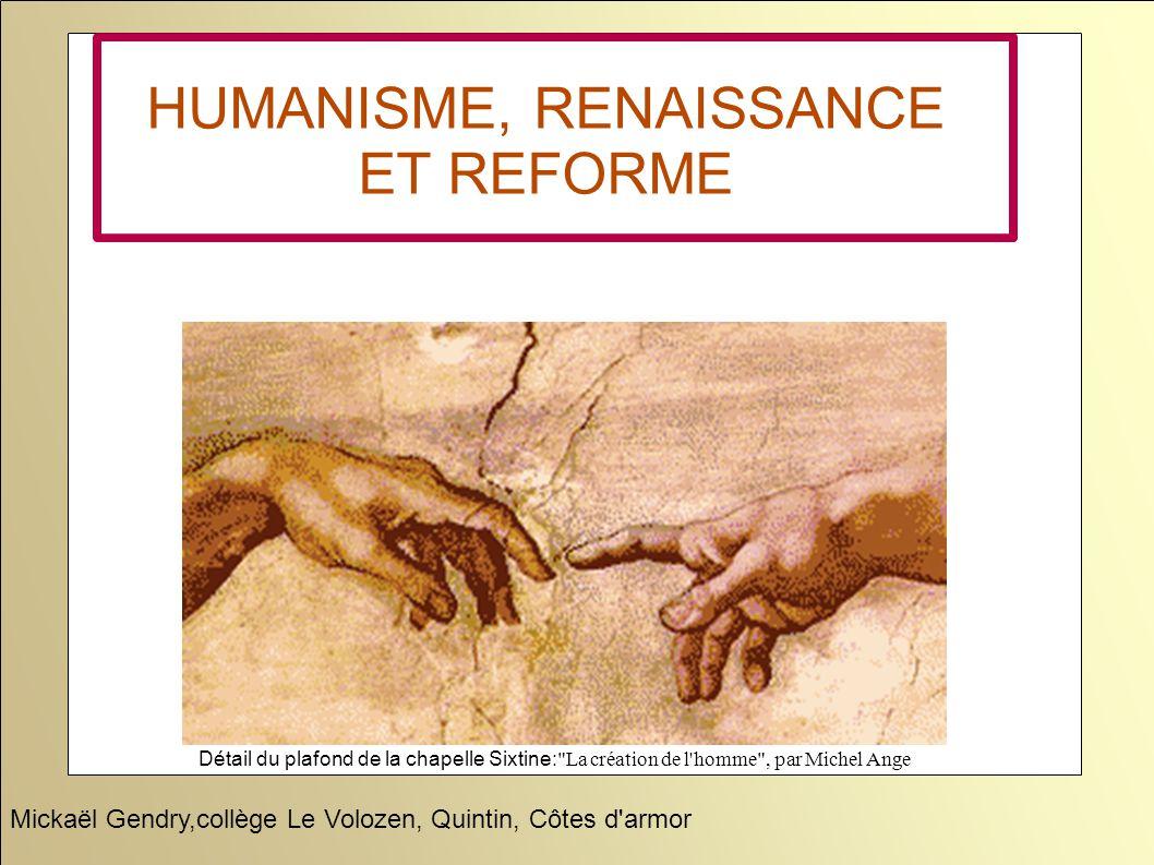 HUMANISME, RENAISSANCE ET REFORME Détail du plafond de la chapelle Sixtine: