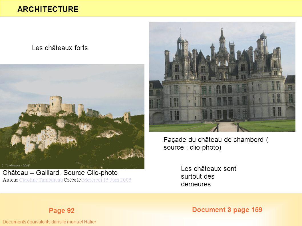 Château – Gaillard. Source Clio-photo Auteur Caroline Tambareau Créée le Mercredi 15 Juin 2005Caroline TambareauMercredi 15 Juin 2005 Façade du châtea