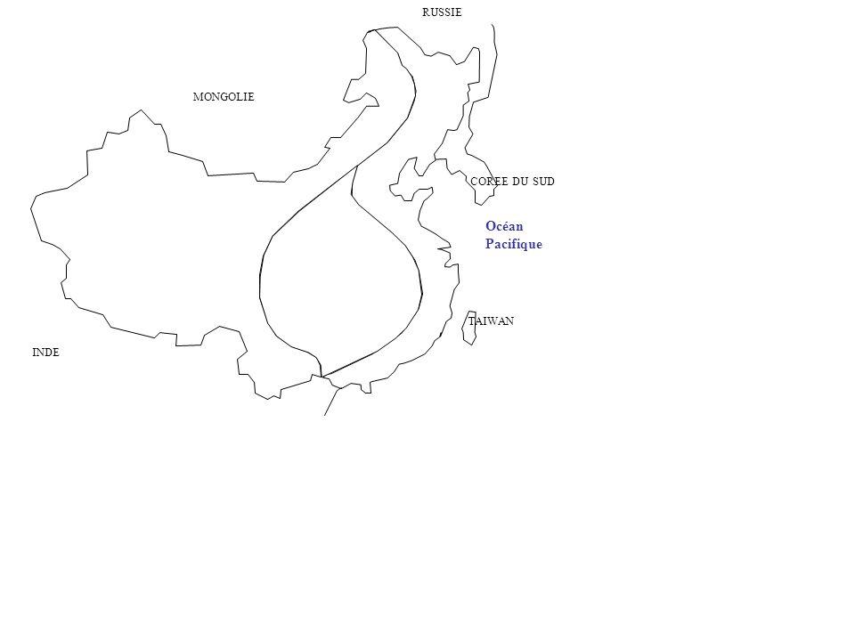 TAIWAN COREE DU SUD Océan Pacifique MONGOLIE RUSSIE INDE