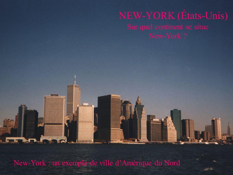 NEW-YORK (États-Unis) Sur quel continent se situe New-York .