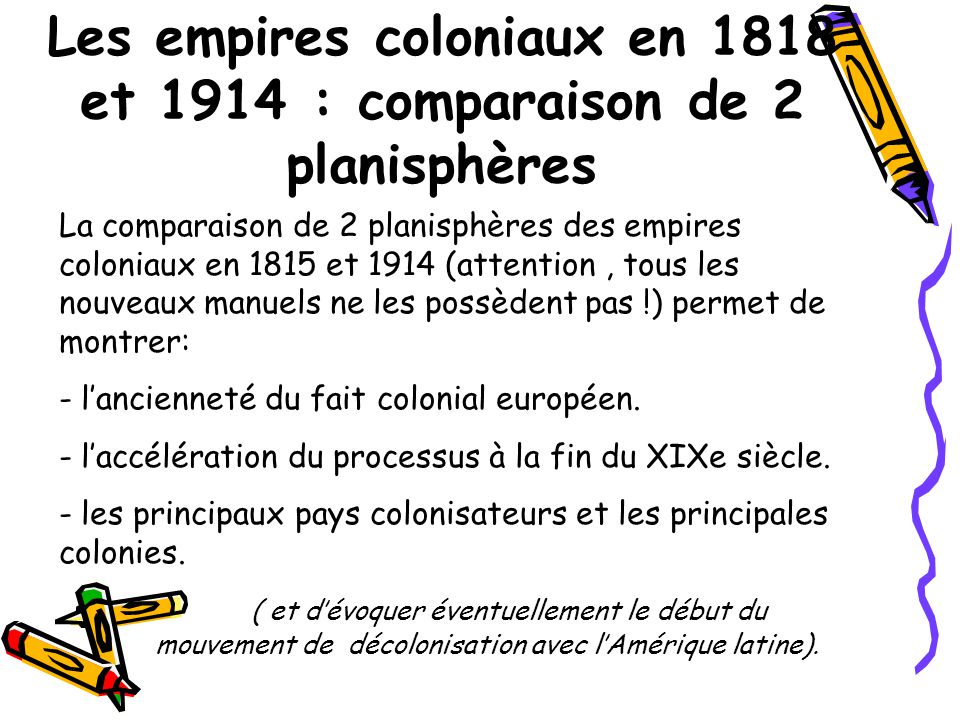 A- Laccélération de lexpansion coloniale assoit la domination européenne : (1,5 heure) Comment se déroule la conquête .