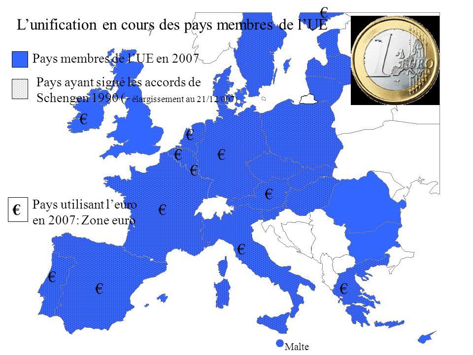 UE en 2007 Siège des institutions européennes: 1: Bruxelles: Commission européenne 2: Luxembourg: Cour de justice 3: Strasbourg: Parlement européen 4: