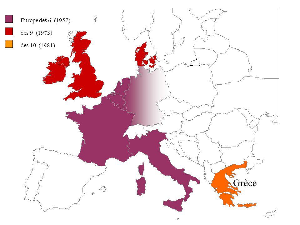 Europe des 6 (1957) des 9 (1973) Royaume-Uni Irlande Danemark