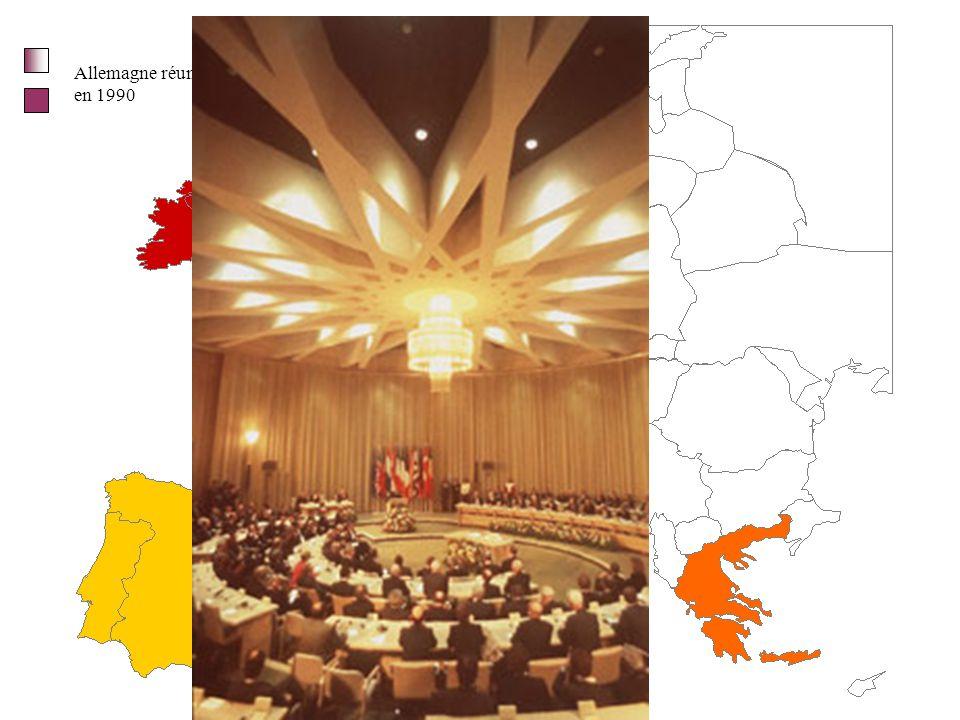 Europe des 6 (1957) des 9 (1973) des 10 (1981) des 12 (1986) Portugal Espagne