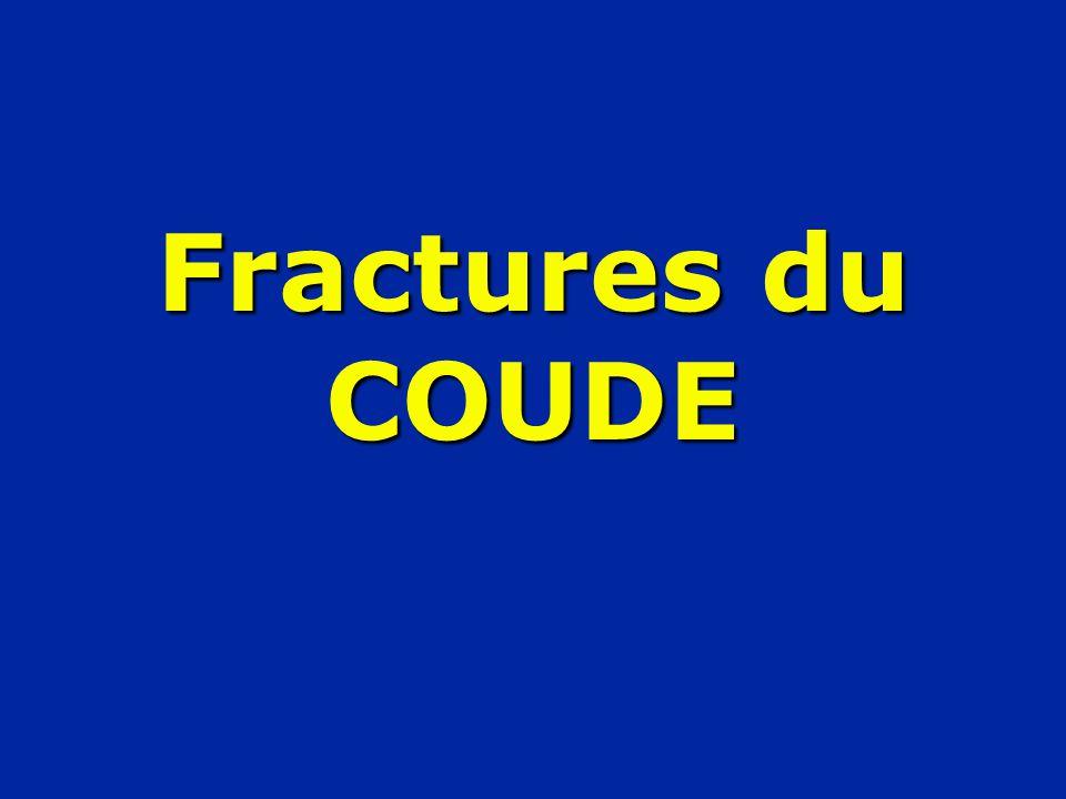 Fractures du COUDE