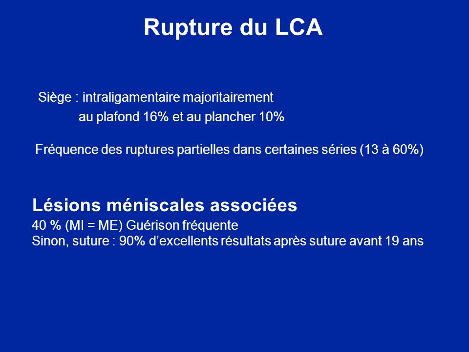 Radio simple et rupture du LCA Tiroir antérieur Fracture ETA Fracture de Segond et fract insertion LLE
