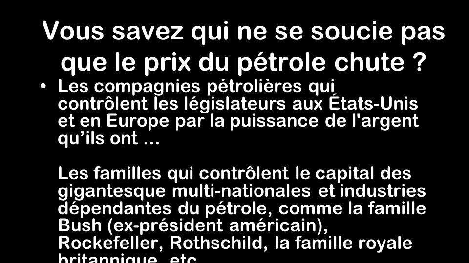 Pouvez-vous imaginer lutilité du baril de pétrole si il nétait pas utilisé pour déplacer les voitures et les camions ? La demande et le prix seraient