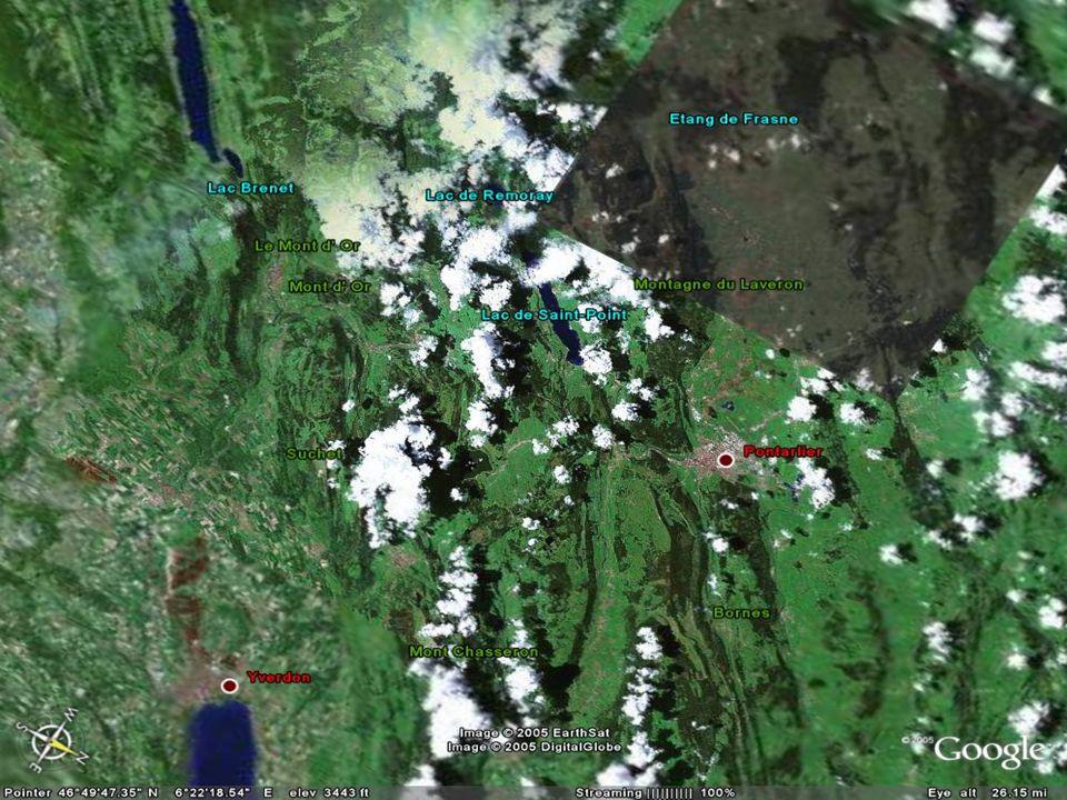 Si vous en doutez encore, limage suivante est une prise de vue du satellite EarthSat prise à la même altitude et numérisée.