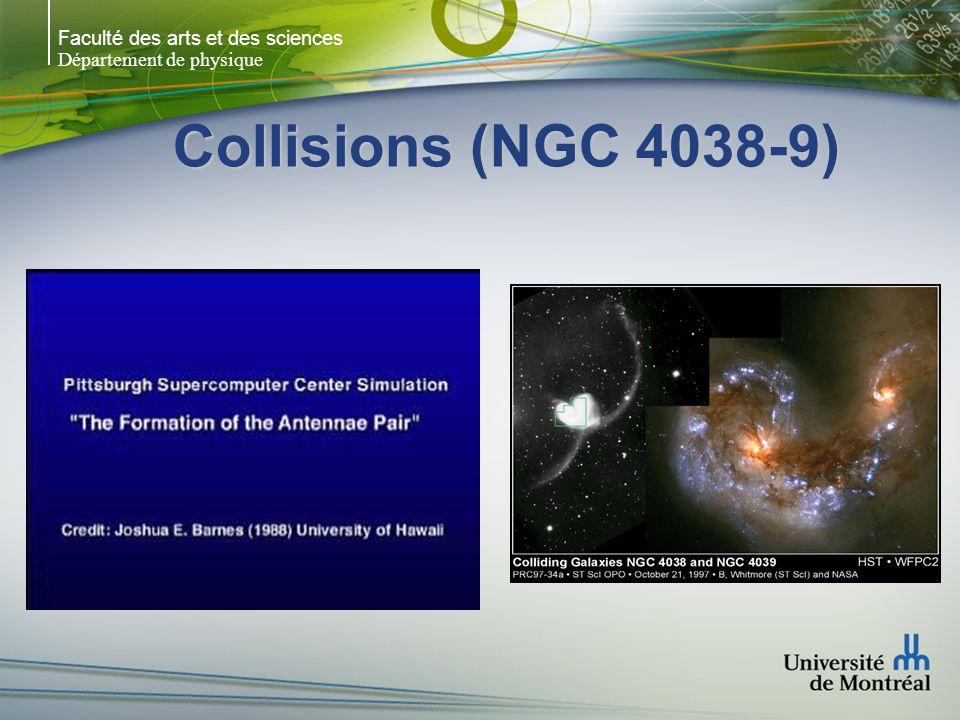 Faculté des arts et des sciences Département de physique Collisions (NGC 4038-9)