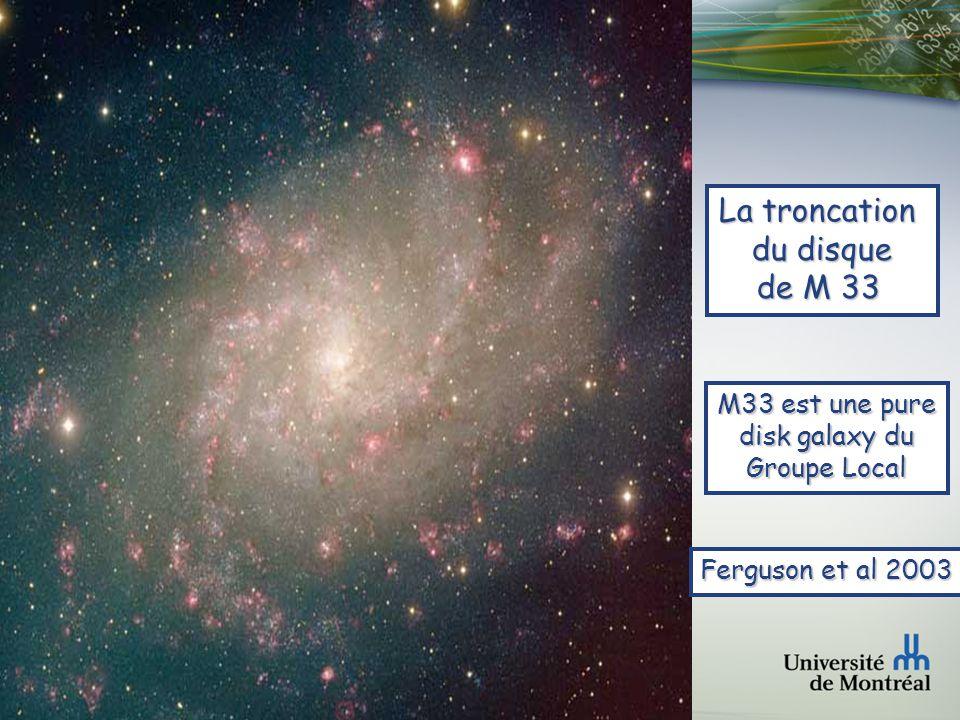 Faculté des arts et des sciences Département de physique NGC 4565 Disque plus épais mais tronqué