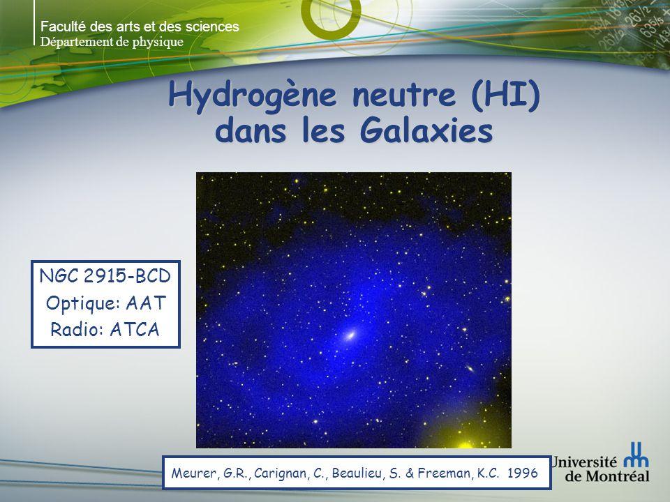 Faculté des arts et des sciences Département de physique Hydrogène neutre (HI) dans les Galaxies Puche, D., Carignan, C.