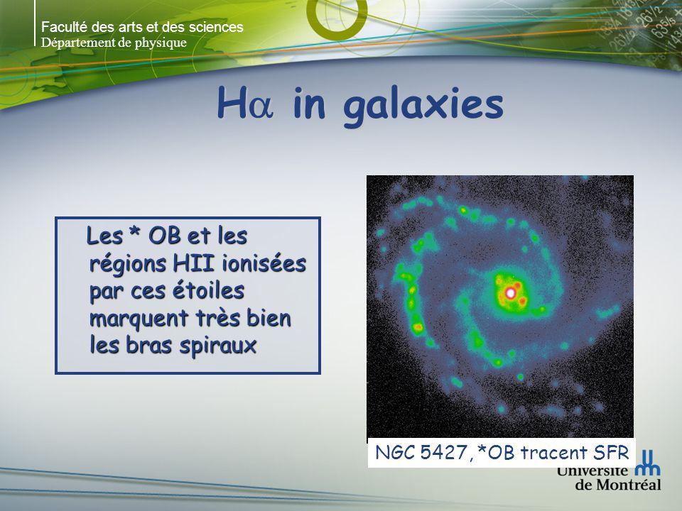 Faculté des arts et des sciences Département de physique H in galaxies