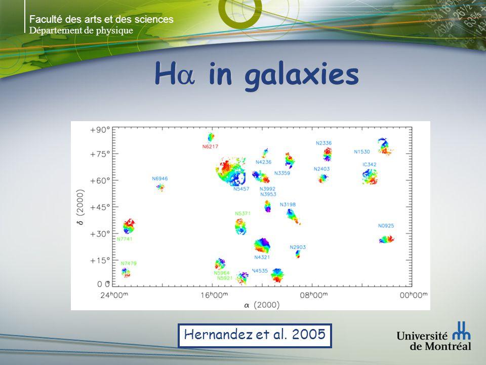 Faculté des arts et des sciences Département de physique H in galaxies SINGS NGC 4725 SINGS M 51