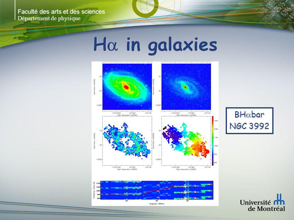 Faculté des arts et des sciences Département de physique H in galaxies Hernandez et al. 2005