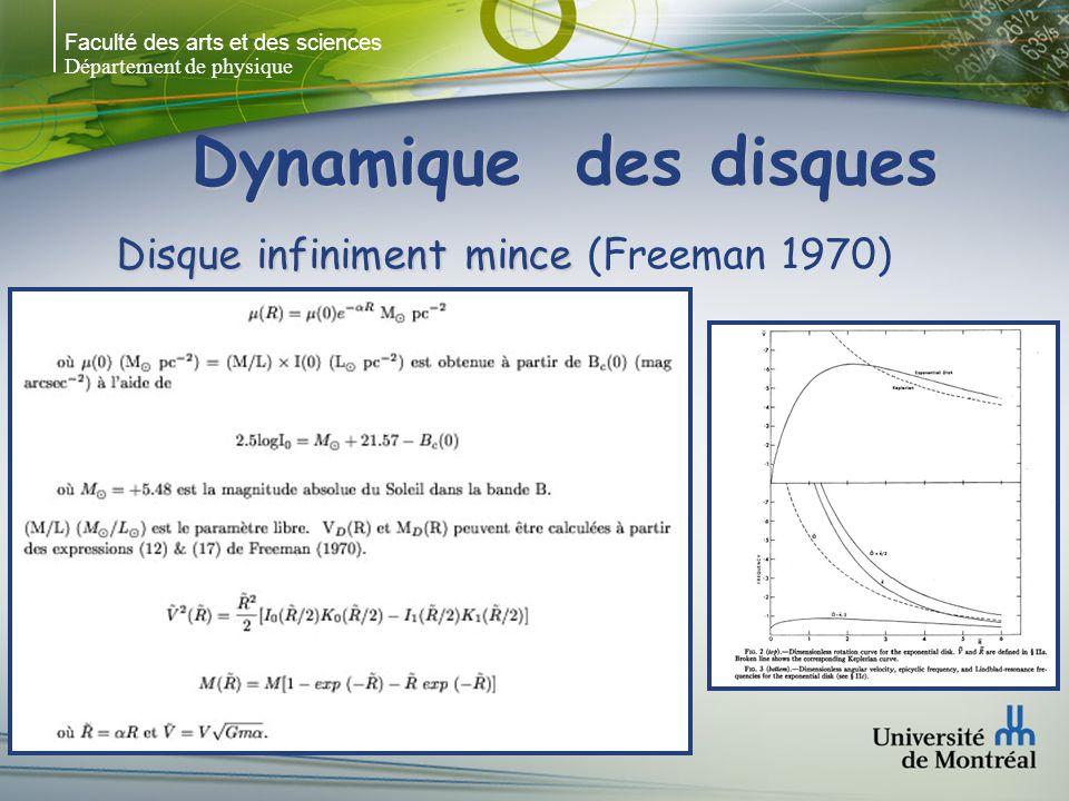 Faculté des arts et des sciences Département de physique Dynamique des disques Disque infiniment mince Disque infiniment mince (Freeman 1970)