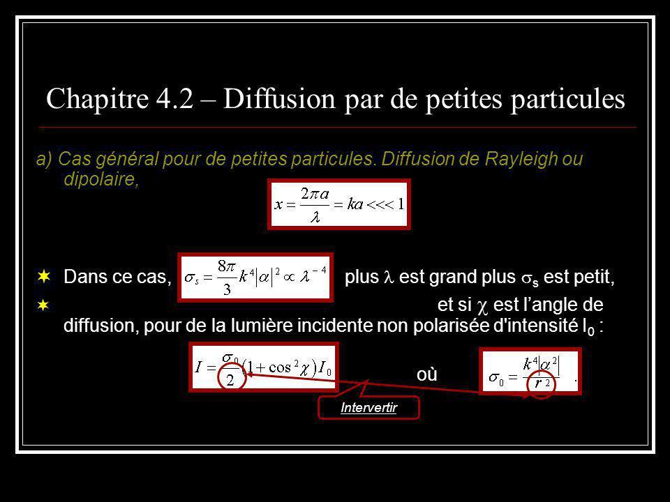 Chapitre 4.2 – Diffusion par de petites particules b) Diffusion par des électrons.