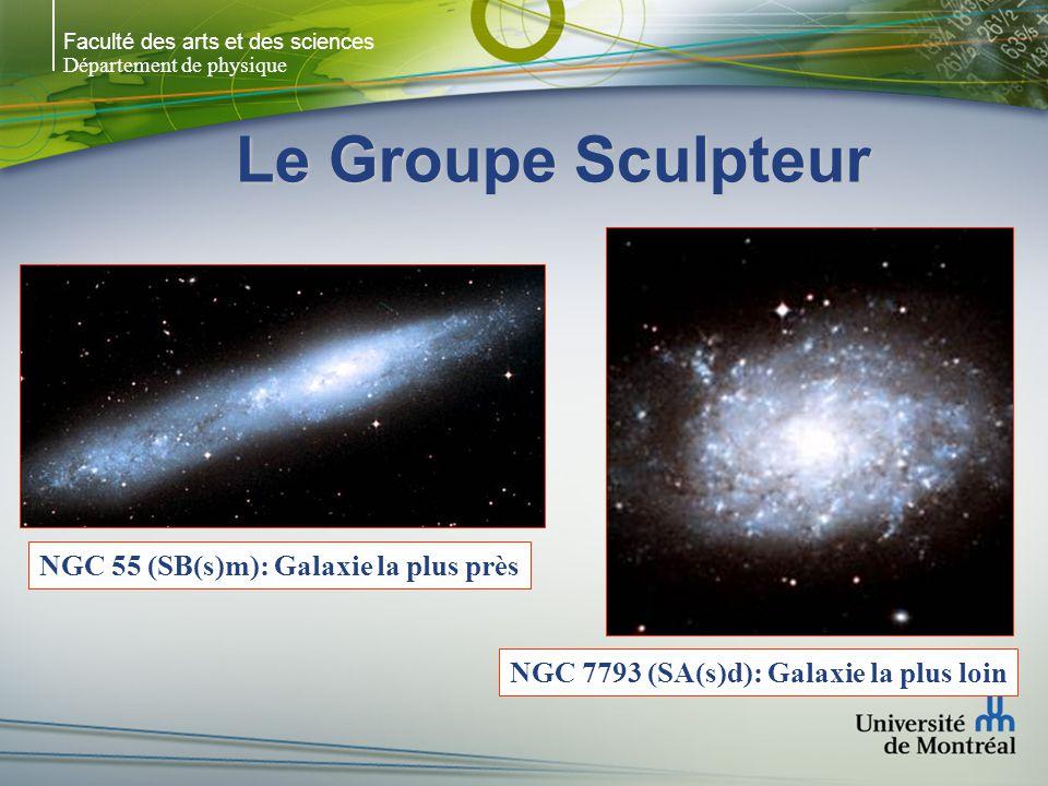 Faculté des arts et des sciences Département de physique Le Groupe Sculpteur NGC 247 - SAB(s)d NGC 300 - SA(s)d