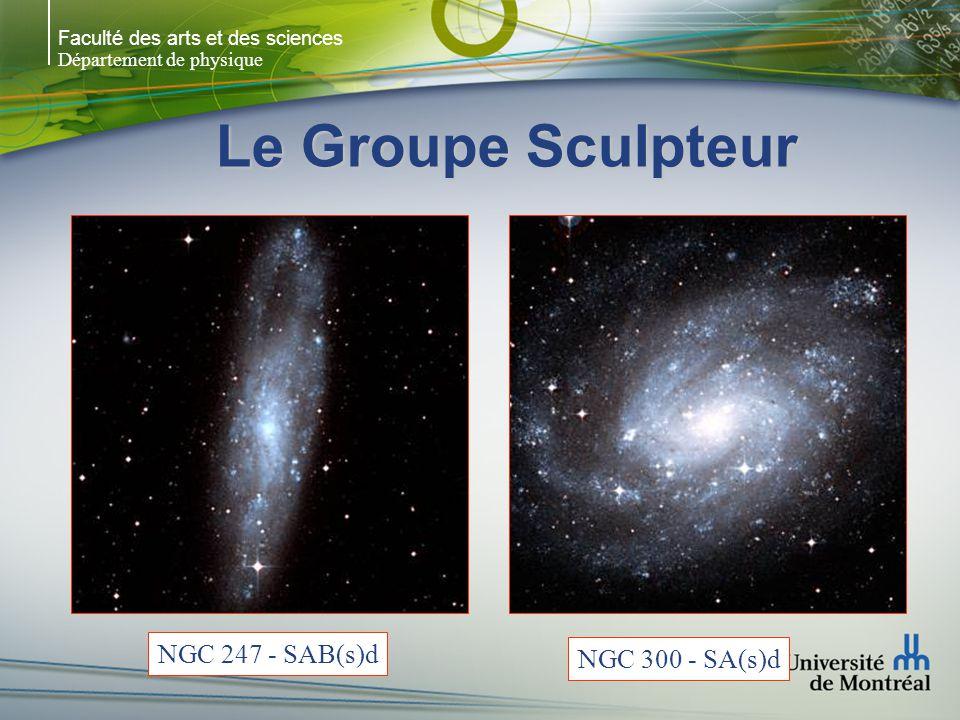 Faculté des arts et des sciences Département de physique Le Groupe Centaurus Groupe qui contient plusieurs galaxies actives: –Centaurus A : radio galaxie la plus proche et la source radio la plus forte avec Virgo A (M87) –M83