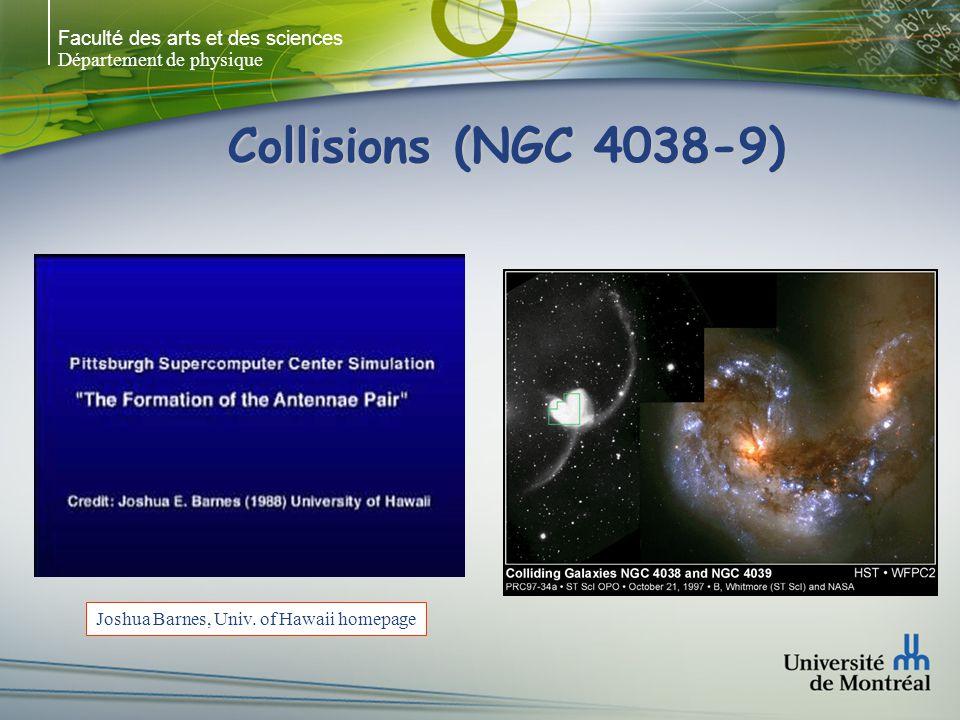 Faculté des arts et des sciences Département de physique Collisions (NGC 4038-9) Joshua Barnes, Univ. of Hawaii homepage