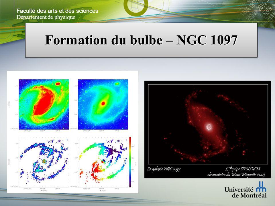 Faculté des arts et des sciences Département de physique Formation du bulbe – NGC 1097