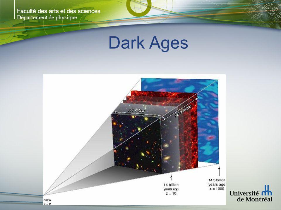 Faculté des arts et des sciences Département de physique Dark Ages