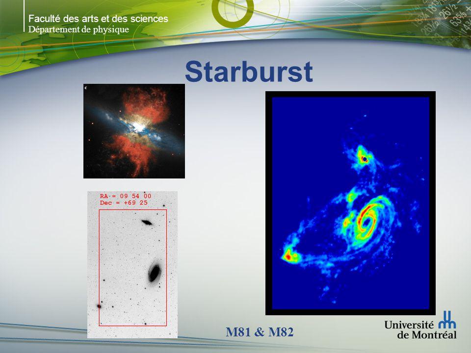 Faculté des arts et des sciences Département de physique Starburst M81 & M82