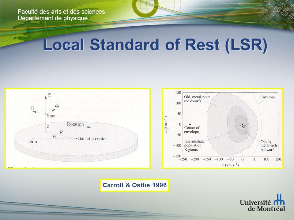 Faculté des arts et des sciences Département de physique Local Standard of Rest (LSR) Carroll & Ostlie 1996