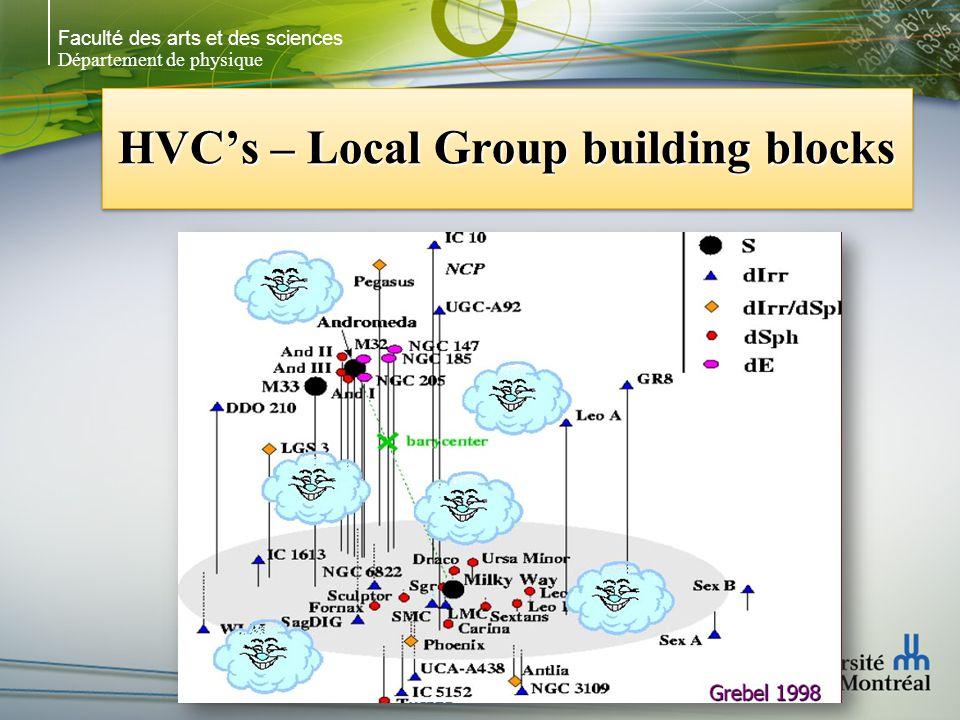 Faculté des arts et des sciences Département de physique HVCs – Local Group building blocks