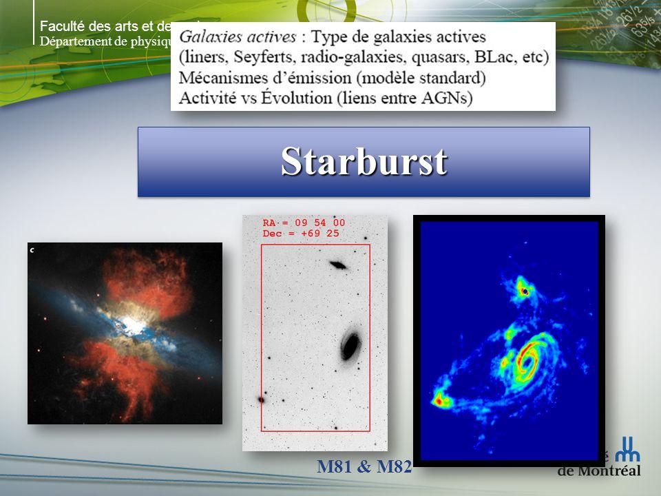 Faculté des arts et des sciences Département de physique StarburstStarburst M81 & M82