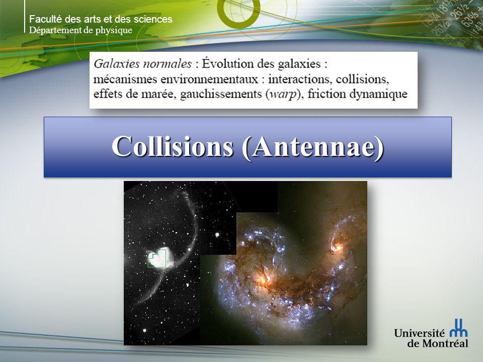 Faculté des arts et des sciences Département de physique Collisions (Antennae)