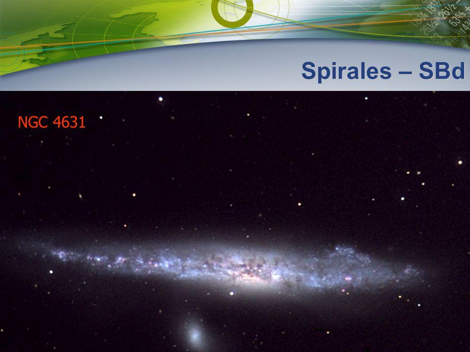 Spirales – SBd NGC 4631